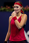 Kristina Mladenovic of France reacts during the singles Round Robin match of the WTA Elite Trophy Zhuhai 2017 against Kristina Mladenovic of France at Hengqin Tennis Center on November  01, 2017 in Zhuhai, China.Photo by Yu Chun Christopher Wong / Power Sport Images