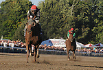 29 August 10: Persistently, jockey Alan Garcia up wins the Personal Ensign Handicap at Saratoga Race Course in  Saratoga Springs, New York.