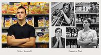 IL VERO E IL FALSO:.Ritratti di veri soci Coop e degli attori che interpretano la sit-Com Casa Coop.Domenico Diele.