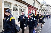 Photo: Richard Lane/Richard Lane Photography. Bath Rugby v Wasps. Aviva Premiership. 04/02/2017. Wasps' Dai Young (c) walks to the  ground.