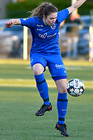 Hanne Merkelbach (25) of KRC Genk in action during a female soccer game between  Racing Genk Ladies and Eendracht Aalst on the 5 th matchday of play off 2 in the 2020 - 2021 season of Belgian Scooore Womens Super League , friday 7 th of May 2021  in Genk , Belgium . PHOTO SPORTPIX.BE | SPP | JILL DELSAUX