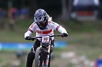 29th August 2021; Commezzadura, Trentino, Italy; 2021 Mountain Bike Cycling World Championships, Val di Sole; Downhill;  Downhill final Junior Women, Mikayla Parton (GBR)