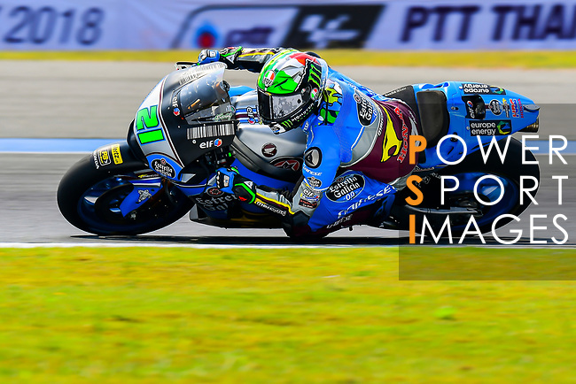 EG 0,0 Marc VDS's rider Franco Morbidelli of Italy rides during the MotoGP Official Test at Chang International Circuit on 17 February 2018, in Buriram, Thailand. Photo by Kaikungwon Duanjumroon / Power Sport Images