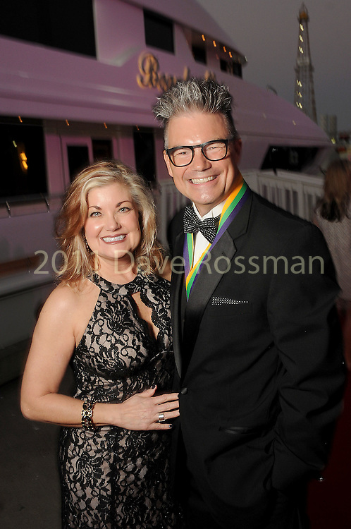 """Maryrine Woolsey and Leonard Woolsey at the San Luis Salute """"Space Pirates"""" VIP reception Friday February 24,2017. (Dave Rossman Photo)"""