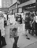 National Organization of Women protest against National Airlines sexist ad campaign, New York, 1971. Photo by John G. Zimmerman.