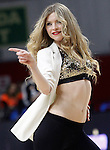 Real Madrid's cheerleader during Euroleague match.February 5,2015. (ALTERPHOTOS/Acero)
