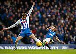 Jason Holt shoots past defender Stuart Findlay