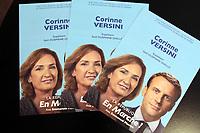 CORINNE VERSINI, CANDIDATE DE LA REPUBLIQUE EN MARCHE AUX LEGISLATIVES DANS LA 4 EME CIRCONSCRIPTION DES BOUCHES DU RHONE - MARSEILLE, FRANCE, 23.05.2017