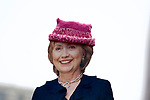 Hillary Clinton cut-out is carried by a protestor as an estimated 500.000 protested in Washington DC, on Jan. 21, 2017, during the Women's March on Washington, a day after the inauguration of Donald Trump as President of the United States.