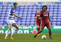 Renato Sanches of Swansea City is marked by George Evans of Reading during the Carabao Cup Third Round match between Reading and Swansea City at Madejski Stadium, Reading, England, UK. Tuesday 19 September 2017