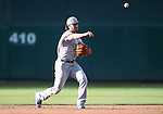 Oklahoma City Dodgers' Charlie Culberson makes a play at Greater Nevada Field in Reno, Nev., on Sunday, July 17, 2016.<br />