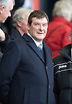 Kilmarnock v St Johnstone...05.04.14    SPFL<br /> Tommy Wright looks on from the stands whilst still recovering from surgery<br /> Picture by Graeme Hart.<br /> Copyright Perthshire Picture Agency<br /> Tel: 01738 623350  Mobile: 07990 594431