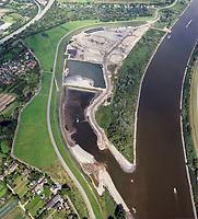 Kreetsand: EUROPA, DEUTSCHLAND, HAMBURG 29.08.2015:   Tiedeelbe Konzept Kreetsand, Hamburg Port Authority (HPA), soll auf der Ostseite der Elbinsel Wilhelmsburg zusaetzlichen Flutraum für die Elbe schaffen. Das Tidevolumen wird durch diese strombauliche Massnahme vergroessert und der Tidehub reduziert. Gleichzeitig ergeben sich neue Moeglichkeiten für eine integrative Planung und Umsetzung verschiedenster Interessen und Belange aus Hochwasserschutz, Hafennutzung, Wasserwirtschaft, Naturschutz und Naherholung.