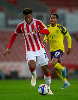 21st November 2020; Bet365 Stadium, Stoke, Staffordshire, England; English Football League Championship Football, Stoke City versus Huddersfield Town; Tyrese Campbell of Stoke City on his way to scoring his second goal