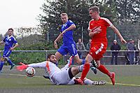 goal, Tor zum 3:1 für Nils Beisser (SKV Büttelborn) gegen Torwart Oguzhan Temur (Michelstadt) - Büttelborn 24.09.2017: SKV Büttelborn vs. VfL Michelstadt