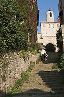 Europe/France/Midi-Pyrénées/81/Tarn/Cordes-sur-Ciel: Escalier du Pater Noster et  Porte de l'Horloge