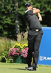 1 September 2008: Sergio Garcia hits a tee shot at the Deutsche Bank Golf Championship in Norton, Massachusetts.