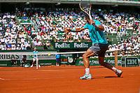 France, Paris, 08.06.2014. Tennis, French Open, Roland Garros, Final men: Rafael Nadal (ESP) vs Novak Djokovic (SRB)<br /> Photo:Tennisimages/Henk Koster