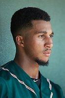 Lolo Sanchez (26) of the Greensboro Grasshoppers during the game against the against the Piedmont Boll Weevils at Kannapolis Intimidators Stadium on June 16, 2019 in Kannapolis, North Carolina. The Grasshoppers defeated the Boll Weevils 5-2. (Brian Westerholt/Four Seam Images)