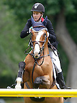 Canada's jockey Emuly George with the horse Quidam's Ramiro during 102 International Show Jumping Horse Riding, King's College Trophy. May, 20, 2012. (ALTERPHOTOS/Acero)