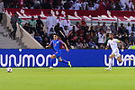 Sunil Chhetri of India (L) runs with the ball during the AFC Asian Cup UAE 2019 Group A match between India (IND) and Bahrain (BHR) at Sharjah Stadium on 14 January 2019 in Sharjah, United Arab Emirates. Photo by Marcio Rodrigo Machado / Power Sport Images