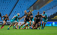 21st August 2020; Ricoh Arena, Coventry, West Midlands, England; English Gallagher Premiership Rugby, Wasps versus Worcester Warriors; Ryan Mills of Wasps runs with the ball during the Gallagher Premiership Rugby match between Wasps and Worcester Warriors at Ricoh Arena