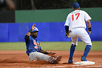 MONTERIA - COLOMBIA, 24-11-2019: Vaqueros de Montería y Caimanes de Barranquilla en el juego 2 de la serie 4 de la Liga Profesional de Béisbol Colombiano temporada 2019-2020 jugado en el estadio estadio Dieciocho de Junio de la ciudad de Montería. Victoria para Vaqueros por marcador de 3-2. / Vaqueros de Monteria and Caimanes de Barranquilla in match 2 series 4 as part Colombian Baseball Professional League season 2019-2020 played at Baseball Stadium on June 18 in Monteria city. Victory to Vaqueros by score of 3-2, Photos: VizzorImage / Andres Felipe Lopez / Cont