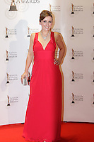12/2/11 Fair City's Sharon Floodon the red carpet at the 8th Irish Film and Television Awards at the Convention centre in Dublin. Picture:Arthur Carron/Collins