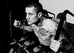 EXCLUSIVE PIC BY - ROB CASEY PHOTOGRAPHY - SUN CONTRIBUTOR NUMBER 0000503288..DESCRIPTION - THE SECRET BEHIND RICKY BURNS SUCCESS PART 2. RICKY HAS BEEN TRAINING USING SPECIALIST WEIGHT TRAINING EQUIPMENT AND RECEIVING SPINAL ADJUSTMENTS AT THE BUCKINGHAM CLINIC IN GLASGOW...PIC SHOWS - WBO WORLD CHAMPION RICKY BURNS AT THE BUCKINGHAM CLINIC, GLASGOW