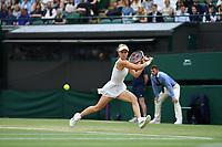 9th July 2021, Wimbledon, SW London, England; Wimbledon Tennis Championships, day 9;  Viktorija Golubic (Sui)