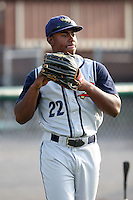 June 26th 2008:  Quincy Latimore of the State College Spikes, Class-A affiliate of the Pittsburgh Pirates, during a game at Falcon Park in Auburn, NY.  Photo by:  Mike Janes/Four Seam Images