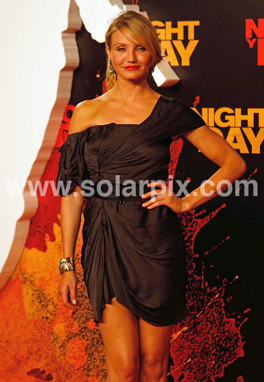 **ALL-ROUND PICTURES FROM SOLARPIX.COM**.**WORLD SYNDICATION RIGHTS EXCEPT BELGIUM, GERMANY, HOLLAND, SCANDINAVIA, SOUTH AMERICA, SPAIN, & USA**.After filming Knight & Day in Spain few months ago, Tom Cruise and Cameron Diaz were back for the world premiere of their movie which was held at the Lope de Vega theatre in Seville...Donning an Armani suit, Cruise came with Katie Holmes who wore head-to-toe Azzedine Alaia whilst Diaz was covered in a mini dress by Lanvin. Seville, Spain. 16 June 2010..This pic: Cameron Diaz..JOB REF: 11491 SKX      DATE:  16_06_2010.**MUST CREDIT SOLARPIX.COM OR DOUBLE FEE WILL BE CHARGED**.**MUST NOTIFY SOLARPIX OF ONLINE USAGE**.**CALL US ON: +34 952 811 768 or LOW RATE FROM UK 0844 617 7637**