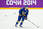 Gabriel Landeskog of Sweden in action during the match between Sweden vs Czech Republic during their Men's Ice Hockey Preliminary Round Group C game on day five of the 2014 Sochi Olympic Winter Games at Bolshoy Ice Dome on February 12, 2014 in Sochi, Russia. Photo by Victor Fraile / Power Sport Images