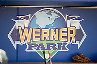 Werner Park in Papillion Nebraska home of the Omaha Storm Chasers before the game against the Memphis Redbirds in Pacific Coast League action on April 22, 2015 in Papillion, Nebraska.  (Stephen Smith/Four Seam Images)