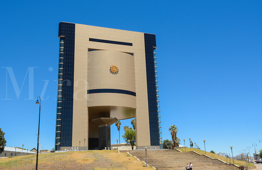 Windhoek Namibia Africa brand new modern Namibia Museum architecture