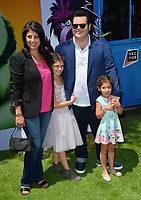 """LOS ANGELES, USA. August 10, 2019: Josh Gad, Ida Darvish & Family at the premiere of """"The Angry Birds Movie 2"""" at the Regency Village Theatre.<br /> Picture: Paul Smith/Featureflash"""