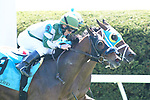 April 03, 2021: Empress Eleanor #9 ridden by James Graham and Enjoyitwhilewecan #11 ridden by Joel Rosario  dead heat to win the fourth race, an allowance for three-year-olds on Blue Grass Stakes Day at Keeneland Race Course in Lexington, Kentucky on April 03, 2021. Jessica Morgan/Eclipse Sportswire/CSM