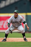 Hawaii Rainbow Warriors first baseman Eric Ramirez (13) on defense during the NCAA baseball game against the Nebraska Cornhuskers on March 7, 2015 at the Houston College Classic held at Minute Maid Park in Houston, Texas. Nebraska defeated Hawaii 4-3. (Andrew Woolley/Four Seam Images)