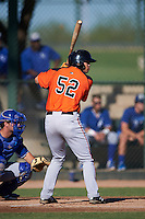 San Francisco Giants Dillon Dobson (52) during an instructional league game against the Kansas City Royals on October 23, 2015 at the Papago Baseball Facility in Phoenix, Arizona.  (Mike Janes/Four Seam Images)