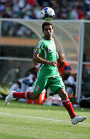 Jose Antonio Castro chases down the ball. Mexico defeated Nicaragua 2-0 during the First Round of the 2009 CONCACAF Gold Cup at the Oakland Coliseum in Oakland, California on July 5, 2009.