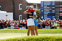 6th September 2021: Toledo, Ohio, USA;  Anna Nordqvist of Team Europe hugs Lexi Thompson of Team USA after finishing on the 18th hole during the singles matches of the Solheim Cup on September 6, 2021 at Inverness Club in Toledo, Ohio.
