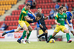 St Johnstone v Preston North End…13.07.21  McDiarmid Park<br />Murray Davidson is brought down by Ben Whiteman<br />Picture by Graeme Hart.<br />Copyright Perthshire Picture Agency<br />Tel: 01738 623350  Mobile: 07990 594431