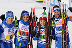 IBU World Championships Biathlon 2019 Ostersund  Mass Start Event in Ostersund, Sweden on March 7, 2019;  Pictured : Italy Mixed Relay with Lisa Vittozzi, Dorothea Wierer, Lukas Hofer and Dominik Windisch<br />  © Pierre Teyssot