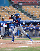 Eduardo Garcia participates in the MLB International Showcase at Estadio Quisqeya on February 22-23, 2017 in Santo Domingo, Dominican Republic.