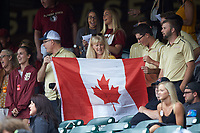 Florida State Seminoles fans hold up a Canadian flag during the game against the North Carolina Tar Heels in the 2017 ACC Baseball Championship Game at Louisville Slugger Field on May 28, 2017 in Louisville, Kentucky. The Seminoles defeated the Tar Heels 7-3. (Brian Westerholt/Four Seam Images)