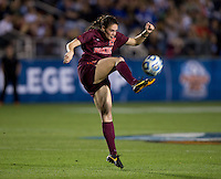 Jordan Coburn. Florida State defeated Virginia Tech, 3-2,  at the NCAA Women's College Cup semifinals at WakeMed Soccer Park in Cary, NC.