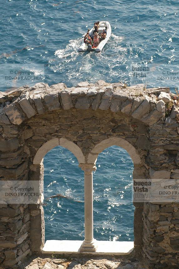- Portovenere (La Spezia), the sea seen from a window of the castle....- Portovenere (La Spezia), il mare visto da una finestra del castello