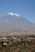 El Misti volcano, Arequipa, Peru. View of a classical snow-capped volcano.