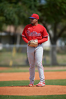 Philadelphia Phillies pitcher Jhordany Mezquita (65) during an exhibition game against the Canada Junior National Team on March 11, 2020 at Baseball City in St. Petersburg, Florida.  (Mike Janes/Four Seam Images)