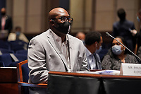 Philonise Floyd, brother of George Floyd, is seen before a House Judiciary Committee hearing to discuss police brutality and racial profiling on Wednesday, June 10, 2020.<br /> Credit: Greg Nash / Pool via CNP/AdMedia